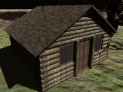 cabaña, casa modelo 3d