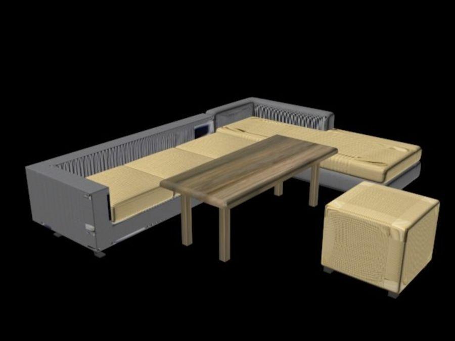 sofa living room royalty-free 3d model - Preview no. 2