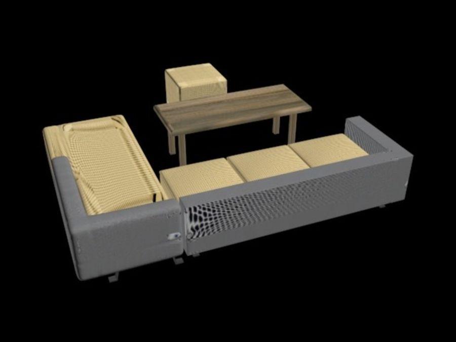 sofa living room royalty-free 3d model - Preview no. 1