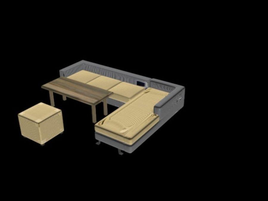 sofa living room royalty-free 3d model - Preview no. 5