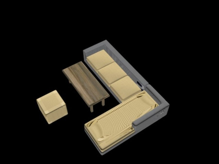 sofa living room royalty-free 3d model - Preview no. 6