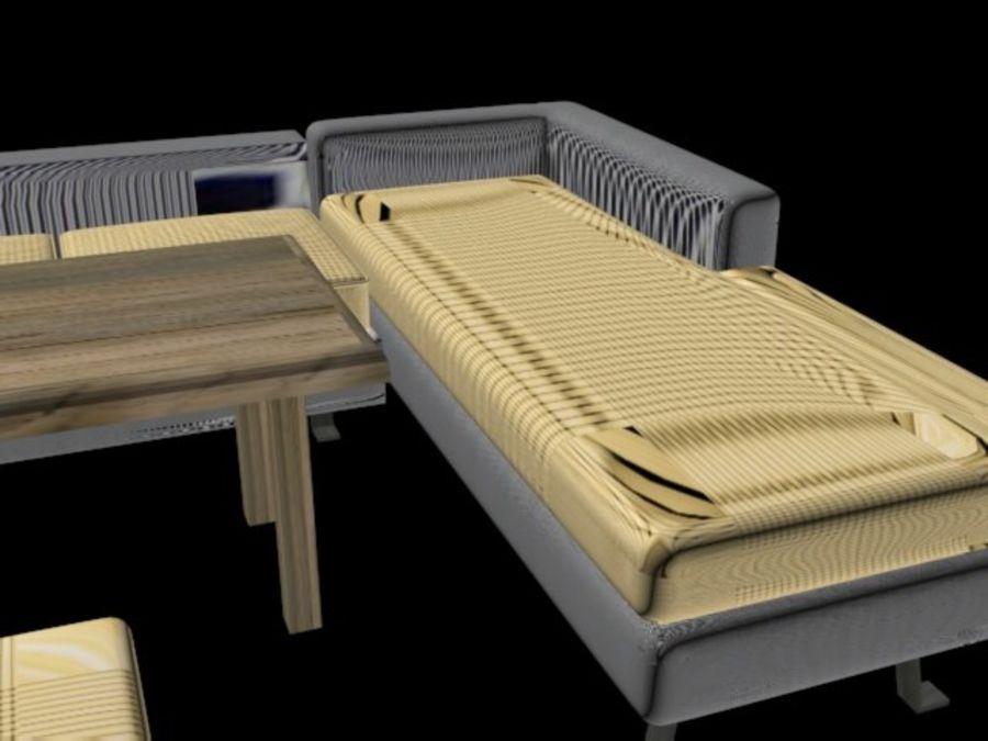 sofa living room royalty-free 3d model - Preview no. 4