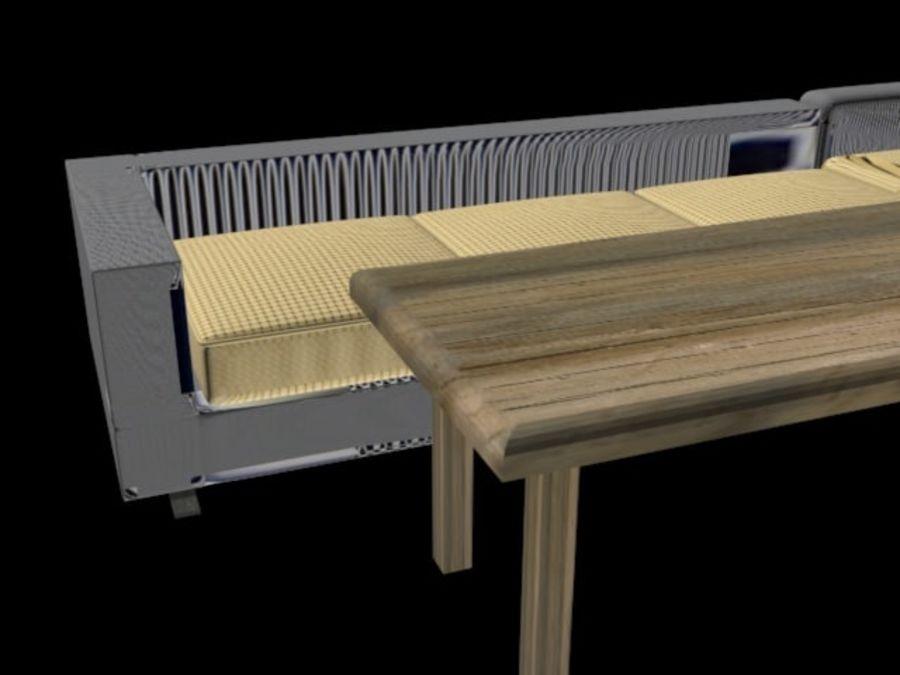 sofa living room royalty-free 3d model - Preview no. 3