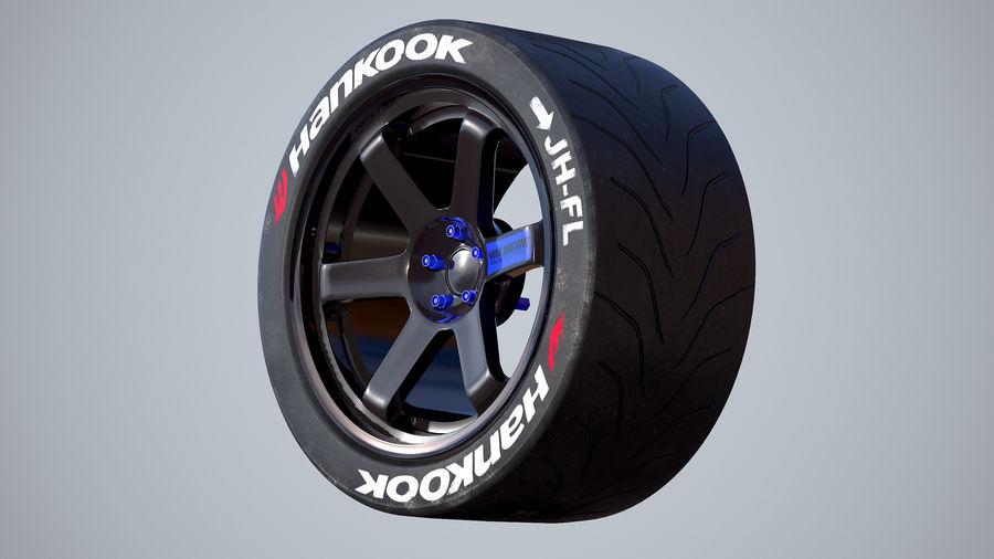 Volk TE37レーシングホイールおよびタイヤ royalty-free 3d model - Preview no. 5