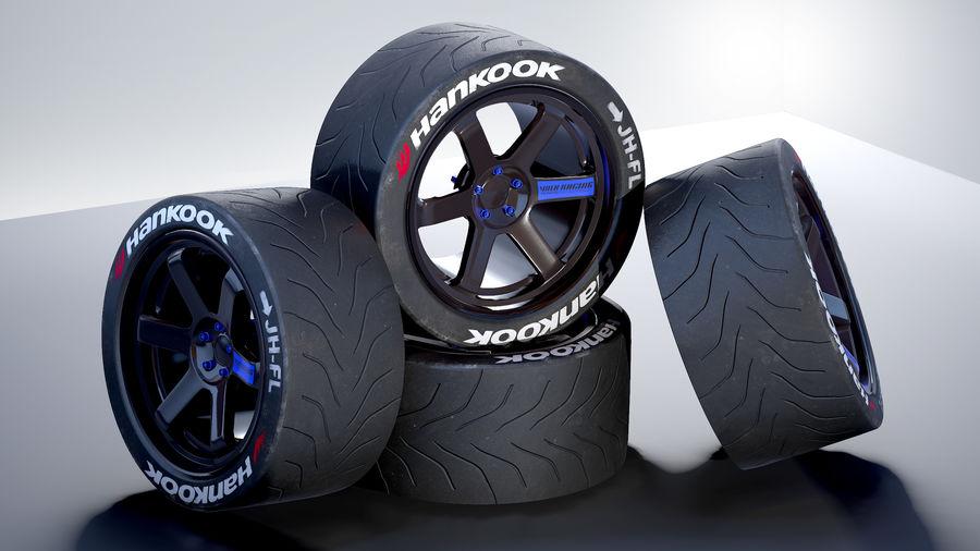 Volk TE37レーシングホイールおよびタイヤ royalty-free 3d model - Preview no. 2