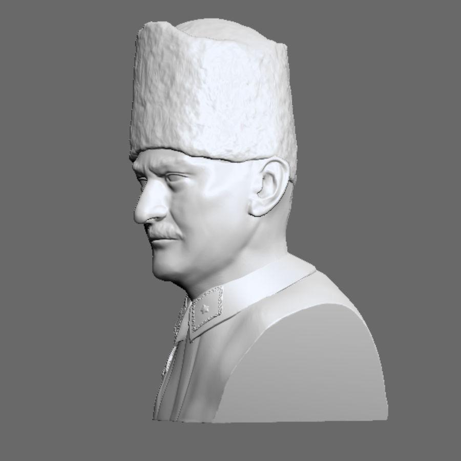 Atatürk Büste drucken bereit royalty-free 3d model - Preview no. 2