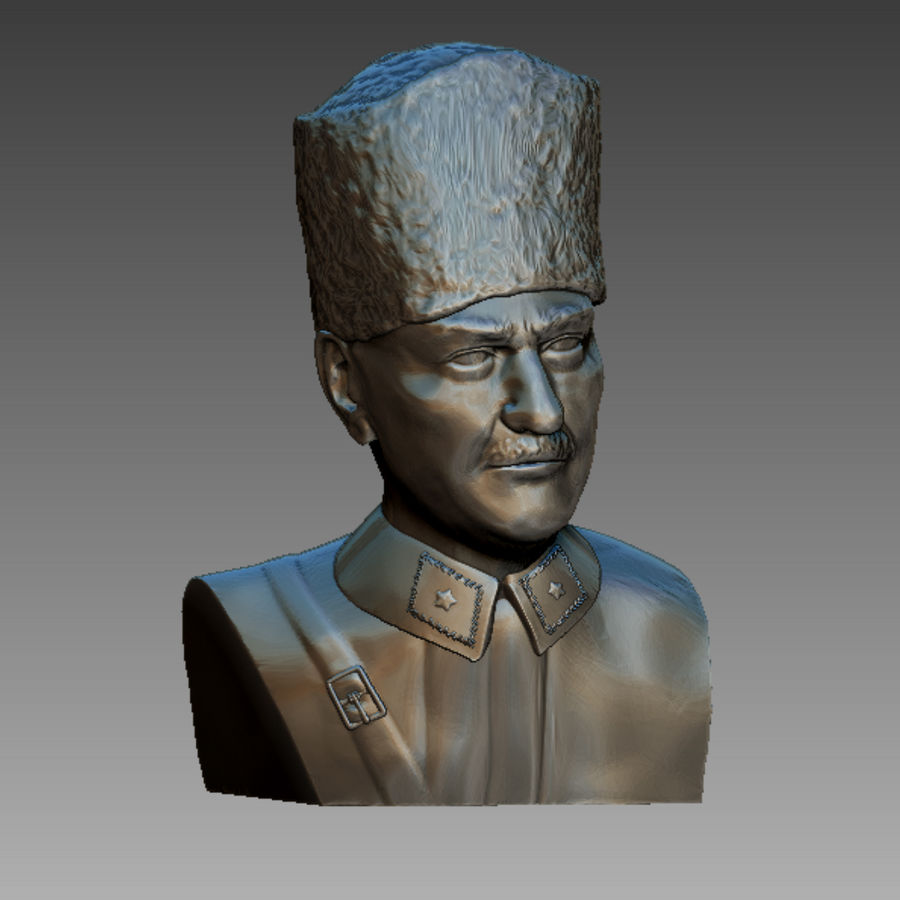 Atatürk Büste drucken bereit royalty-free 3d model - Preview no. 5