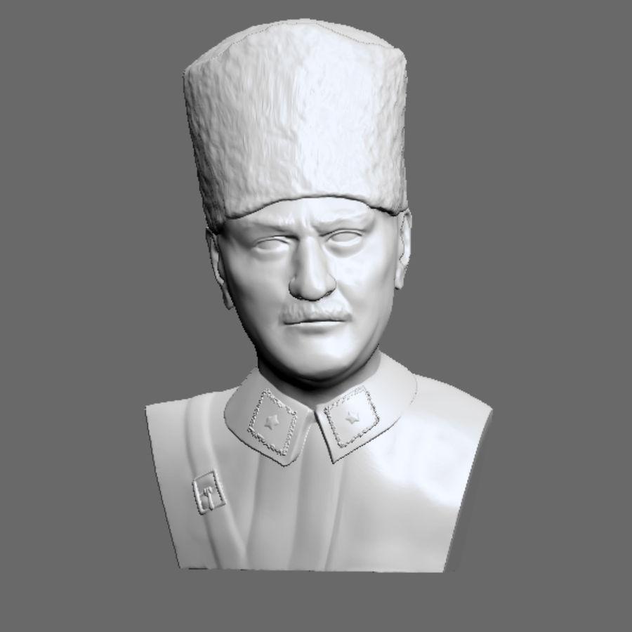 Atatürk Büste drucken bereit royalty-free 3d model - Preview no. 1