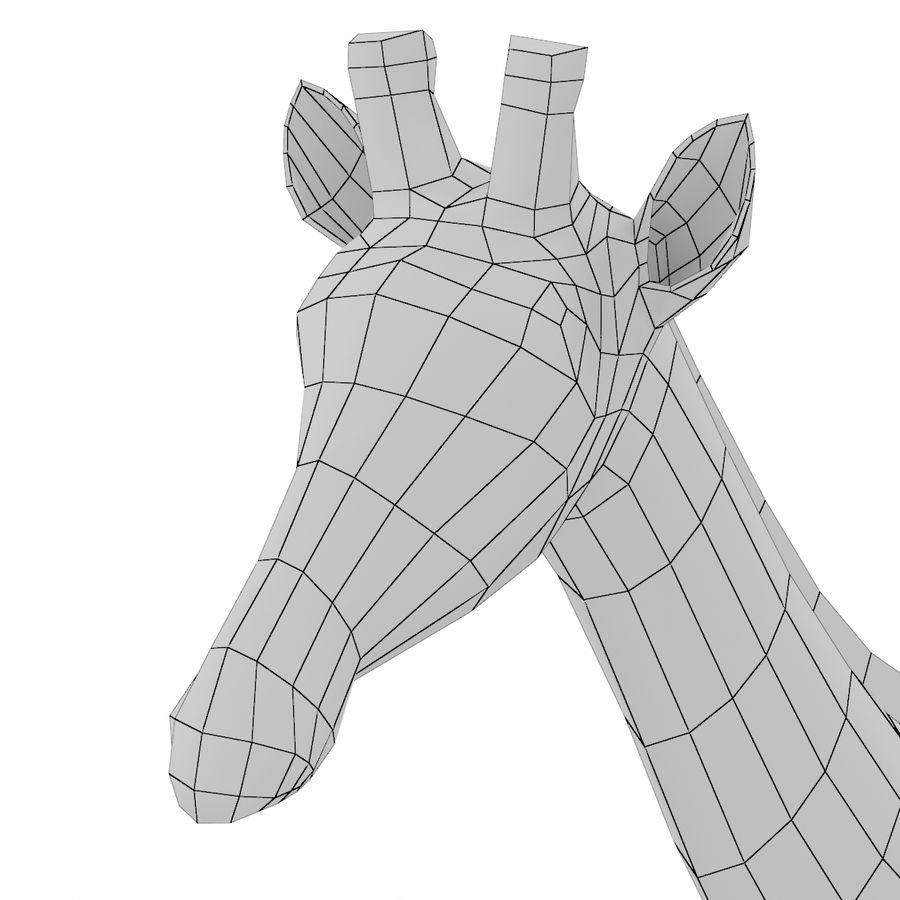 Giraffe Animal Base Mesh royalty-free 3d model - Preview no. 8