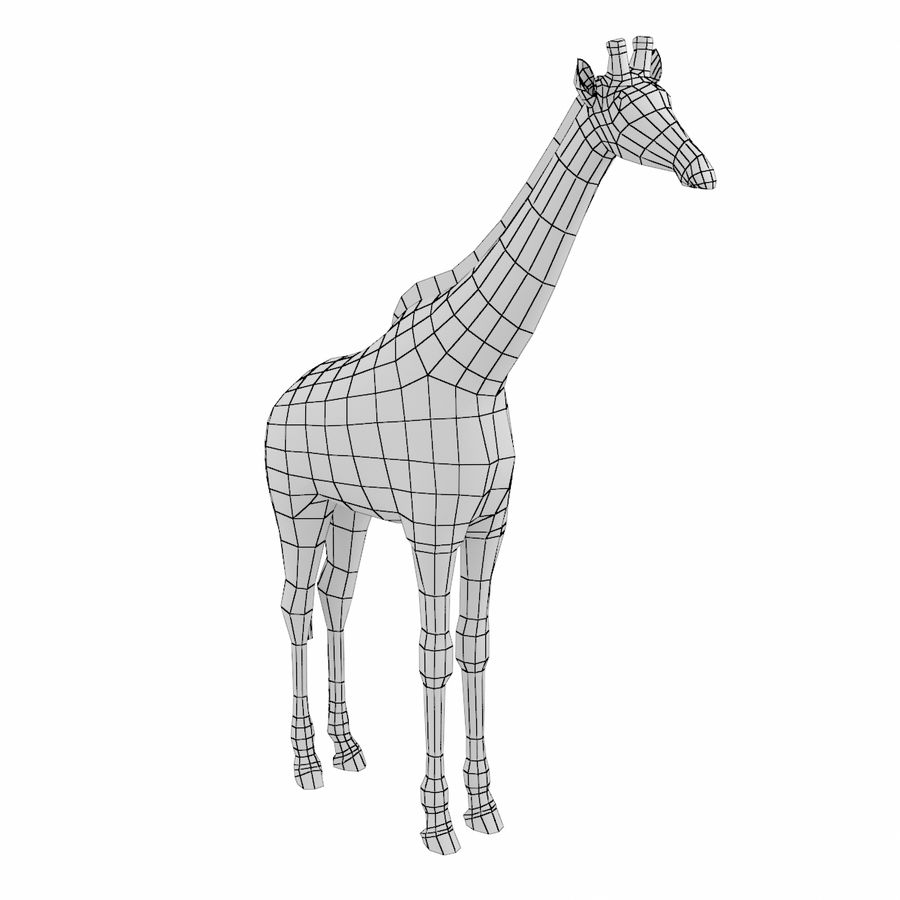 Giraffe Animal Base Mesh royalty-free 3d model - Preview no. 1