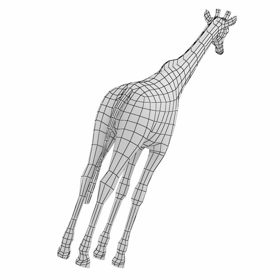 Giraffe Animal Base Mesh royalty-free 3d model - Preview no. 7