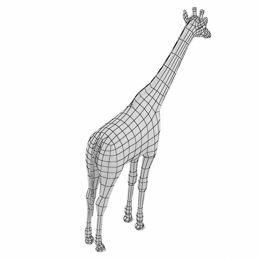 Giraffe Animal Base Mesh royalty-free 3d model - Preview no. 3