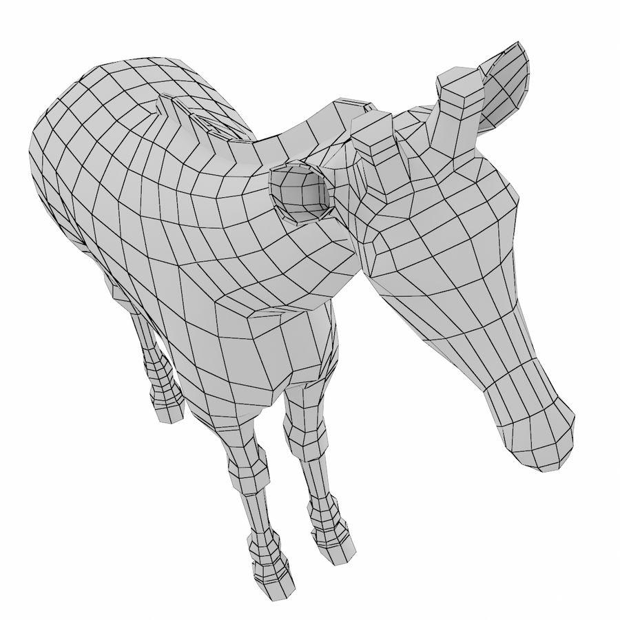 Giraffe Animal Base Mesh royalty-free 3d model - Preview no. 5
