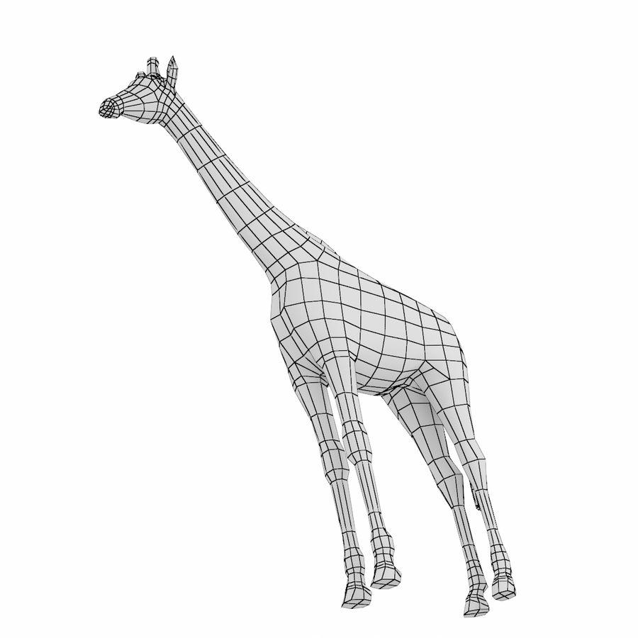 Giraffe Animal Base Mesh royalty-free 3d model - Preview no. 2