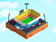 Cartoon Low Poly City Stadium 3d model