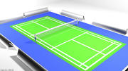 Spielplatz - Badminton 3d model
