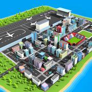 Lowpoly City 3d model