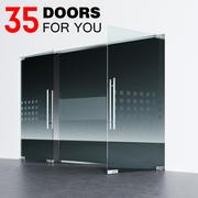 Стеклянные двери 3d model