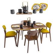 Proso Dining groepsset 3d model