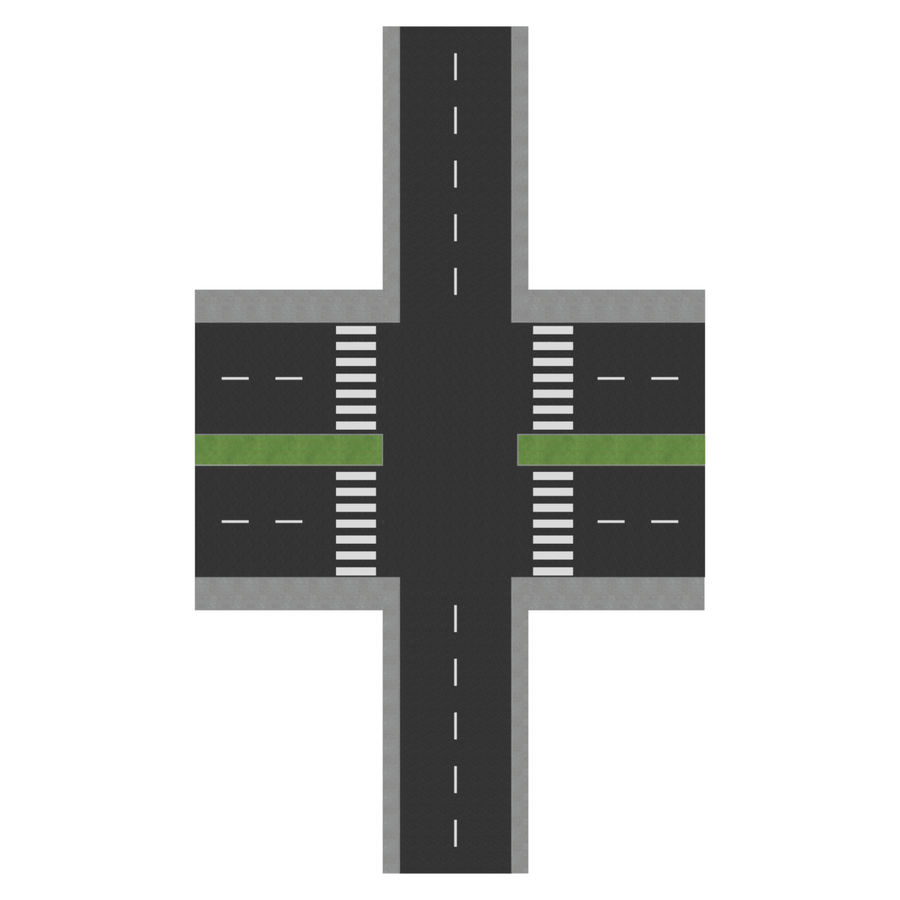 Modular Road royalty-free 3d model - Preview no. 6
