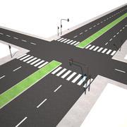 Модульная дорога 3d model