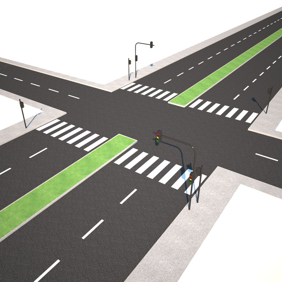 Modular Road royalty-free 3d model - Preview no. 1