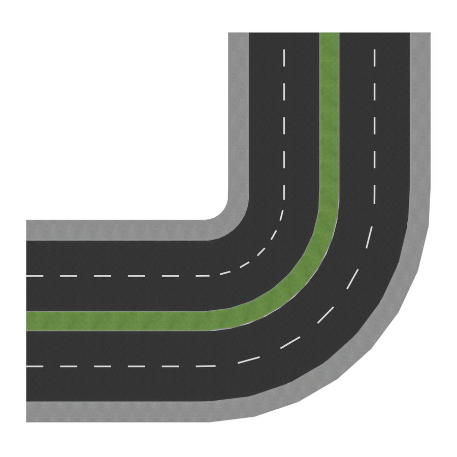 Modular Road royalty-free 3d model - Preview no. 9