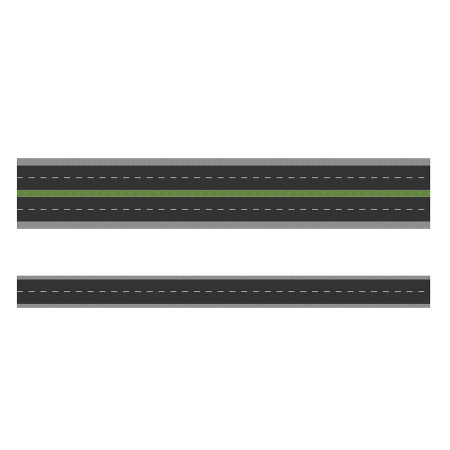 Modular Road royalty-free 3d model - Preview no. 5