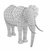 African Elephant Animal Base Mesh Low Poly 3d model