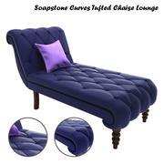 동석 곡선 술 의자 라운지 3d model