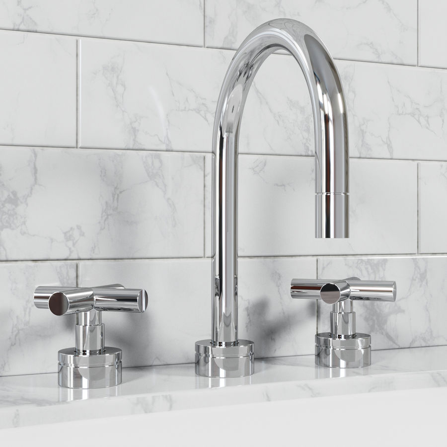 HEWITT SINK FAUCET royalty-free 3d model - Preview no. 1