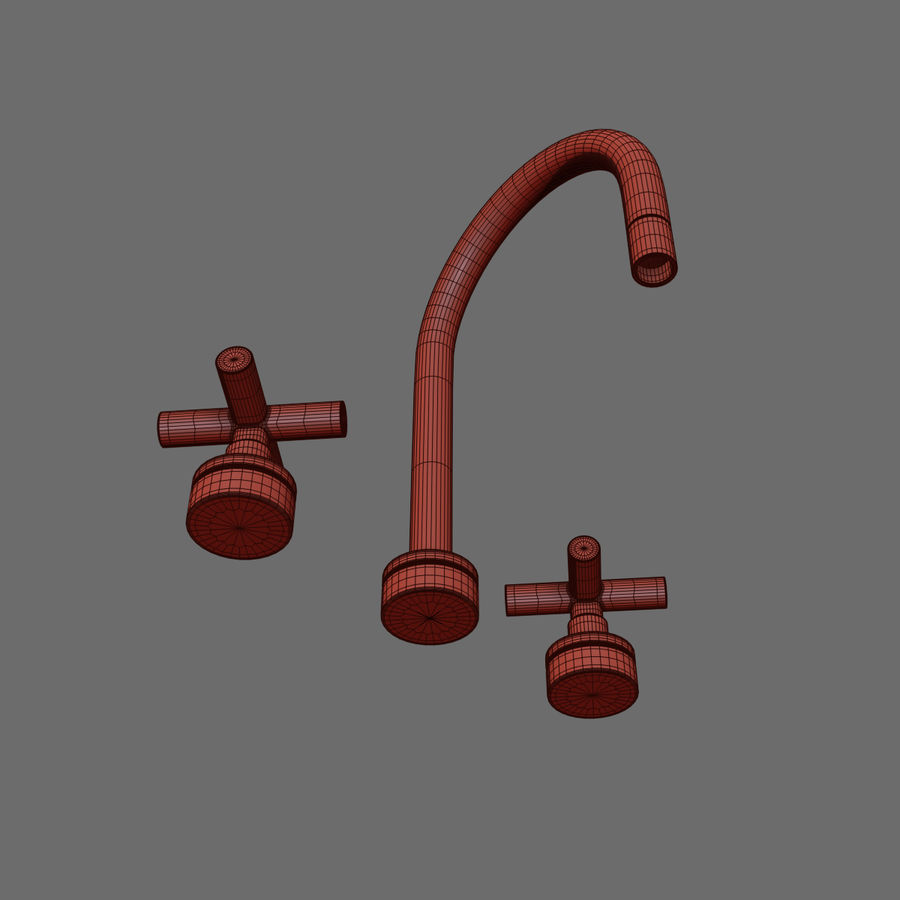 HEWITT SINK FAUCET royalty-free 3d model - Preview no. 4