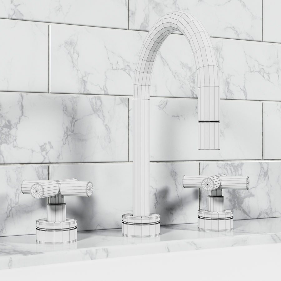 HEWITT SINK FAUCET royalty-free 3d model - Preview no. 2