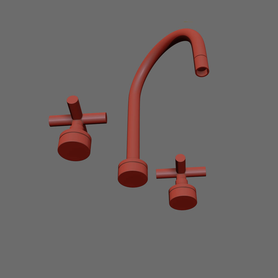 HEWITT SINK FAUCET royalty-free 3d model - Preview no. 5