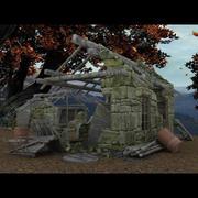 외딴 건물 (잘난 척) 3d model