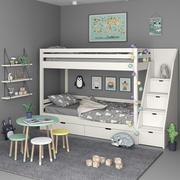 Zestaw do sypialni dla dzieci 3d model