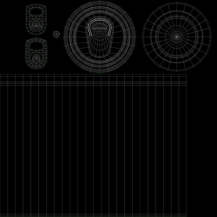 알루미늄 캔 330ml 슬림 royalty-free 3d model - Preview no. 8