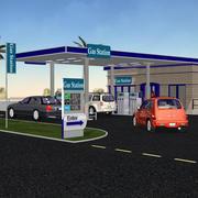 Posatore di benzina VP 3d model