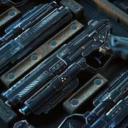 Gun SciFi - PBR tillgång 3d model