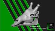 Giraffe Skull [For 3D print] 3d model