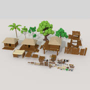 Деревня Питате 3d model