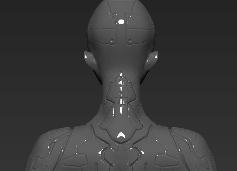 Female Cyborg Robot royalty-free 3d model - Preview no. 9