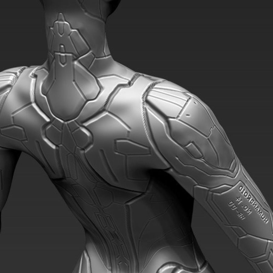 Female Cyborg Robot royalty-free 3d model - Preview no. 18