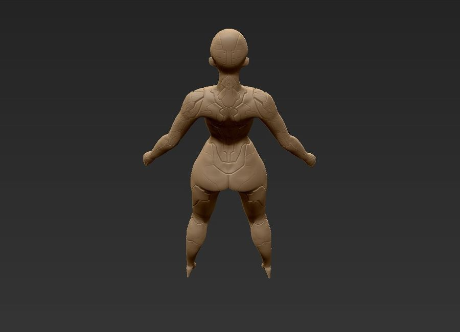 Female Cyborg Robot royalty-free 3d model - Preview no. 29
