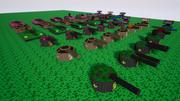 Zestaw model czołgu dla gamedev 3d model