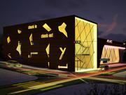 Modèle 3D de bâtiment de vente au détail polyvalent 3d model