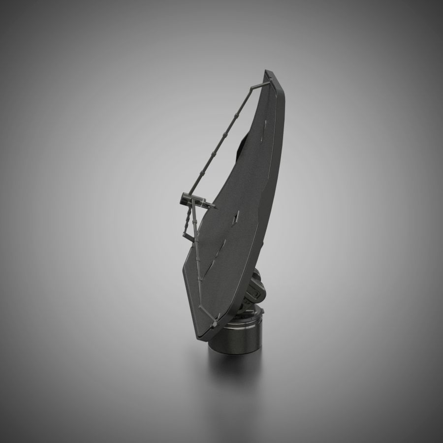 Schotelantenne royalty-free 3d model - Preview no. 6