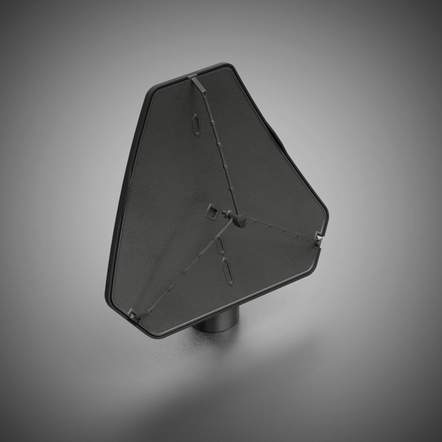 Schotelantenne royalty-free 3d model - Preview no. 1