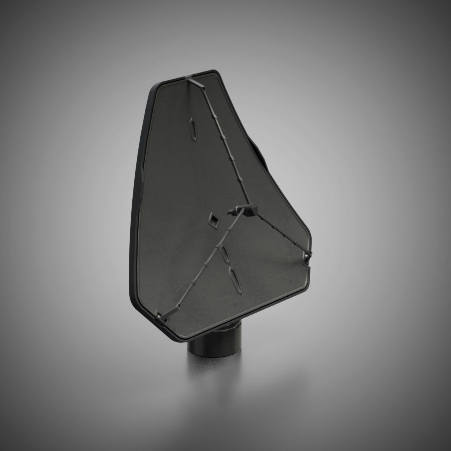 Schotelantenne royalty-free 3d model - Preview no. 2