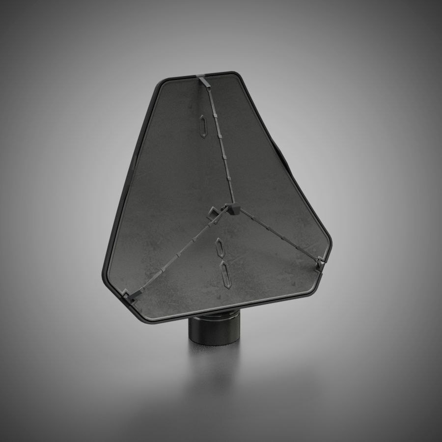 Schotelantenne royalty-free 3d model - Preview no. 3